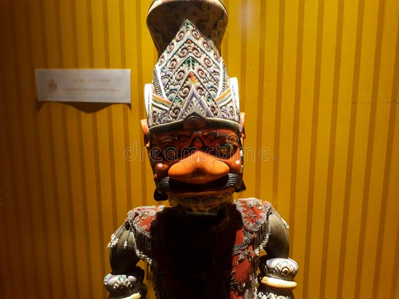 Close portrait on puppet in Jakarta old city puppet museum royalty free stock images