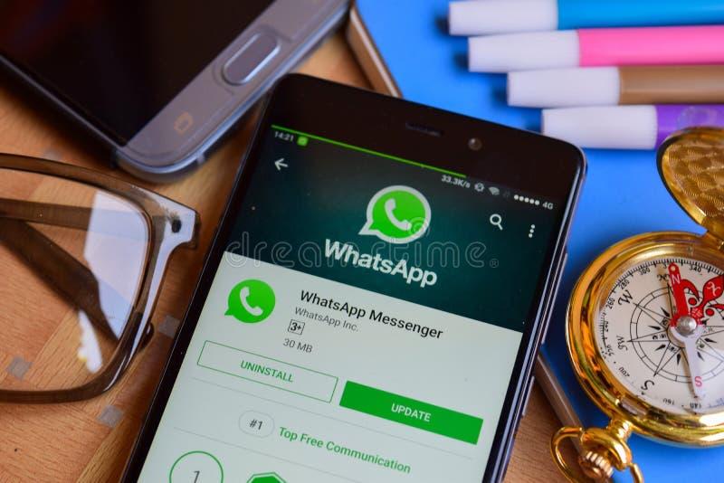 Whatsapp Messenger Mobile App Editorial Stock Image - Image