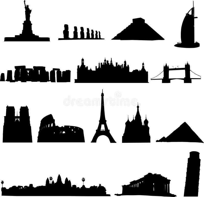 Bekende bouw royalty-vrije illustratie