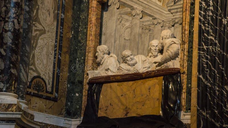 Bekende sculptuur De ecstasy van Saint Teresa in de kerk Santa Maria della Vittoria, Rome, Italië stock afbeelding