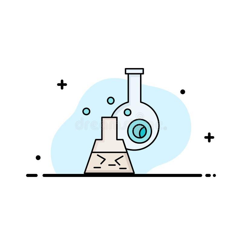 beker, laboratorium, test, buis, de wetenschappelijke Vlakke Vector van het Kleurenpictogram stock illustratie