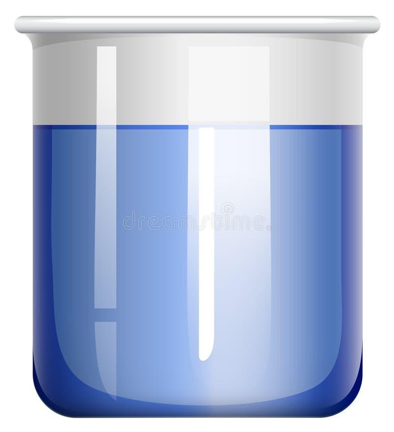 Beker met blauwe substantie vector illustratie