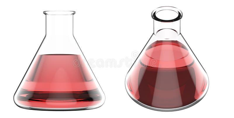 Beker met rode vloeistof vector illustratie