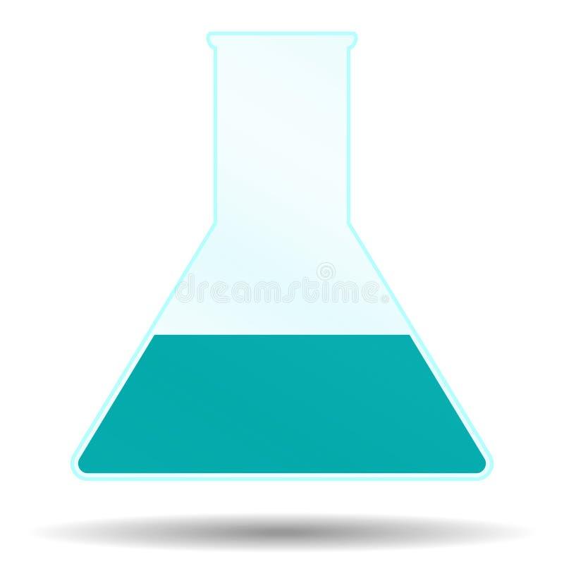 Beker met vloeistof vector illustratie