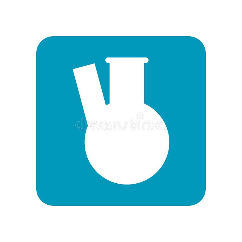 Beker, reageerbuis voor chemisch experiment Medische apparatuur Vlak illustratie, pictogram of voorwerp vector illustratie