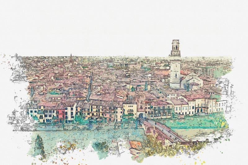 Bekijk de architectuur in Verona royalty-vrije stock foto