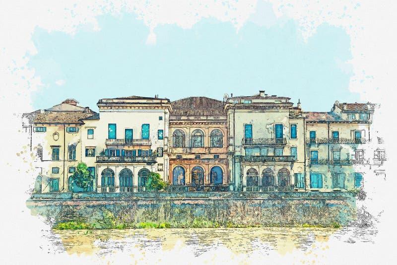 Bekijk de architectuur in Verona royalty-vrije stock foto's