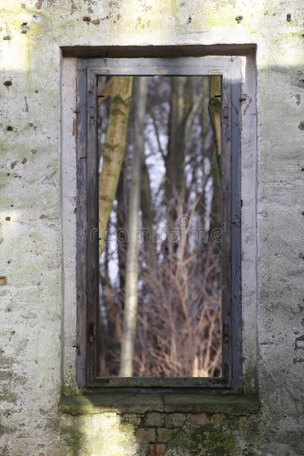 Bekijk door het venster stock foto's