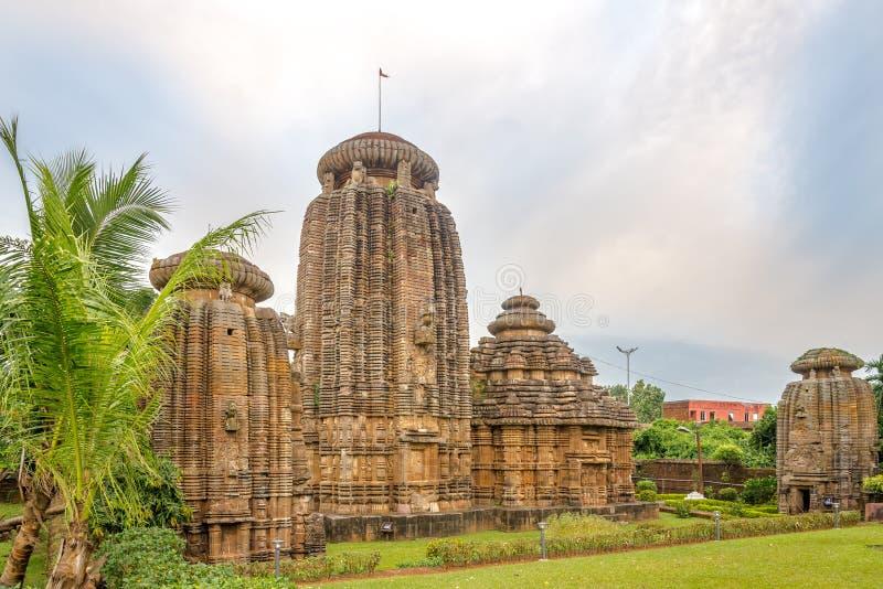 Bekijk het Chitrakarini Temple Complex in Bhubaneswar - Odisha, India royalty-vrije stock fotografie