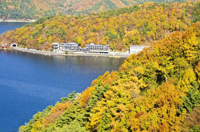 Bekijk het kawaguchikomeer royalty-vrije stock foto