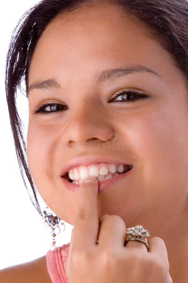 Bekijk mijn tanden royalty-vrije stock foto
