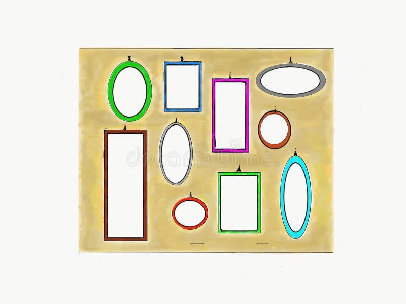 Bekijk wat u met deze gevormde spiegels kunt zien stock illustratie