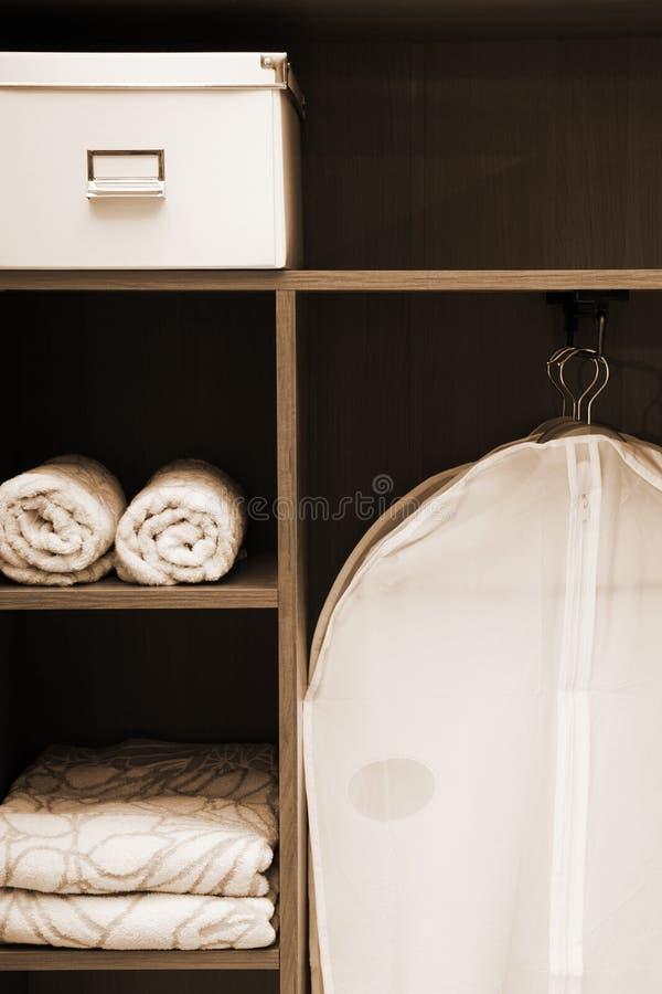 beklär handdukar arkivfoto