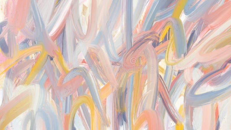 Bekladt de Fullscreen geweven abstracte kwaststreek achtergrond stock afbeelding