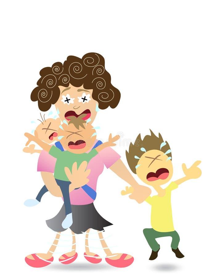 Beklemtoond Mamma vector illustratie