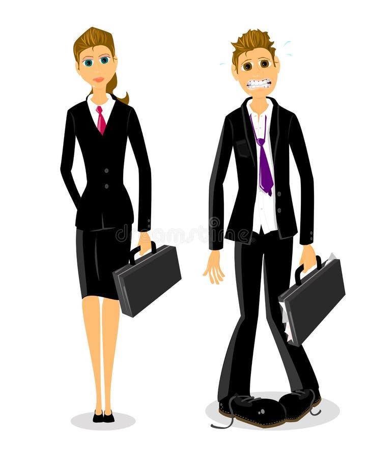Beklemtoonde bedrijfsmens vector illustratie