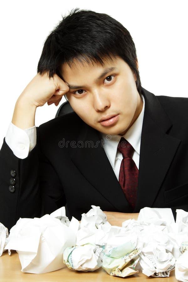 Beklemtoonde zakenman royalty-vrije stock afbeelding