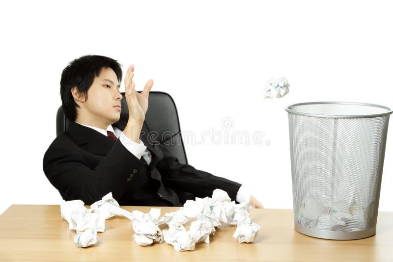 Beklemtoonde zakenman stock afbeeldingen