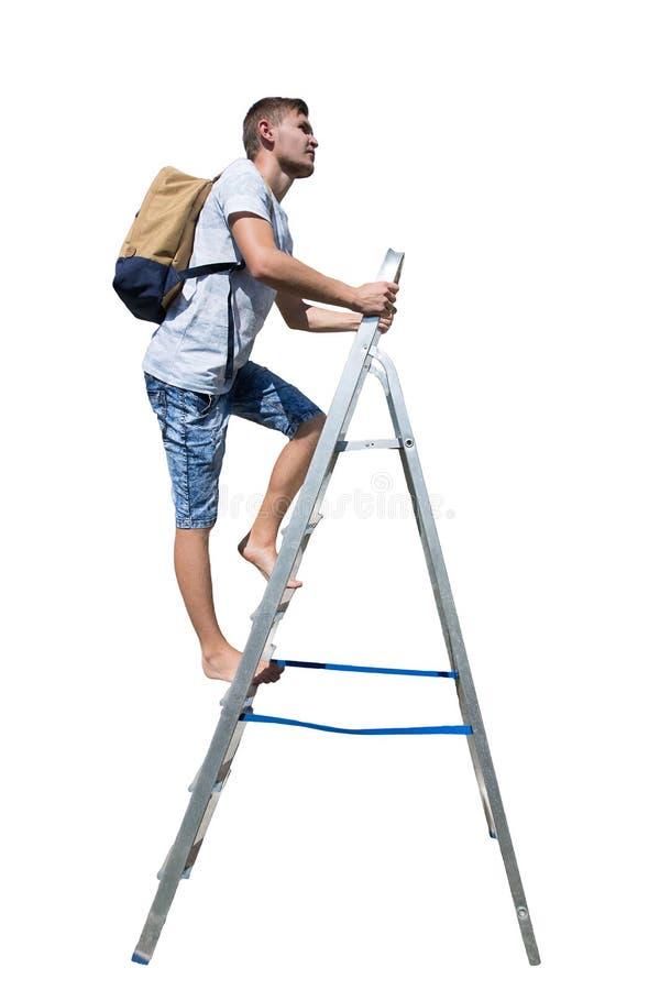 Beklim ladder stock afbeelding