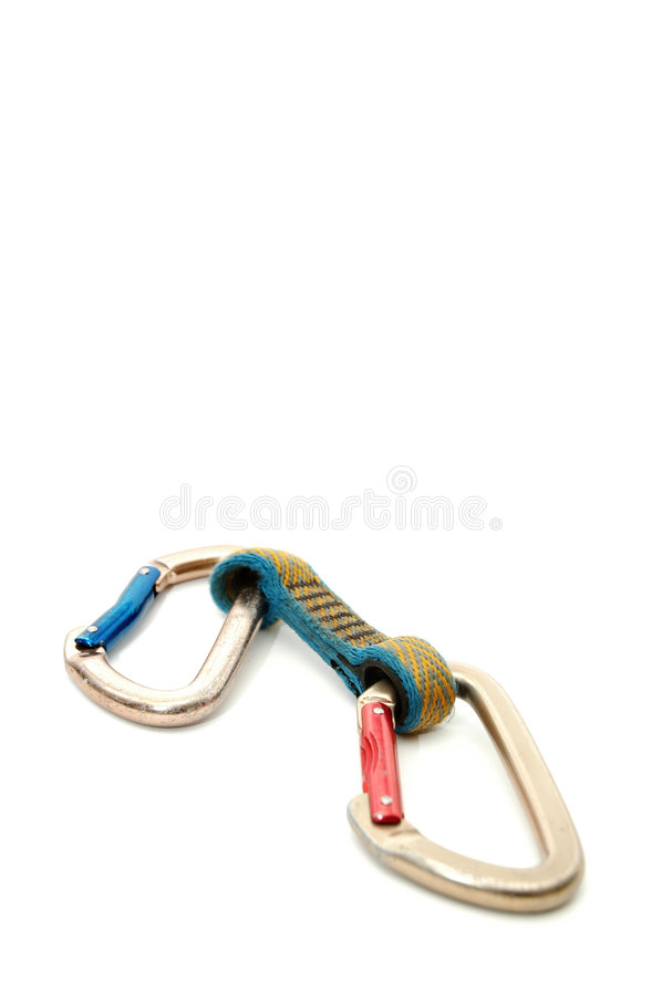 Beklimmend apparatuur - Twee carabiners #2 stock fotografie