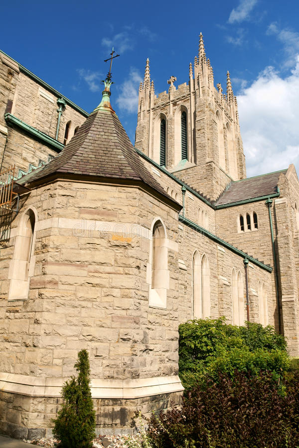 Beklimming van onze kerk van Lord in Montreal stock afbeeldingen