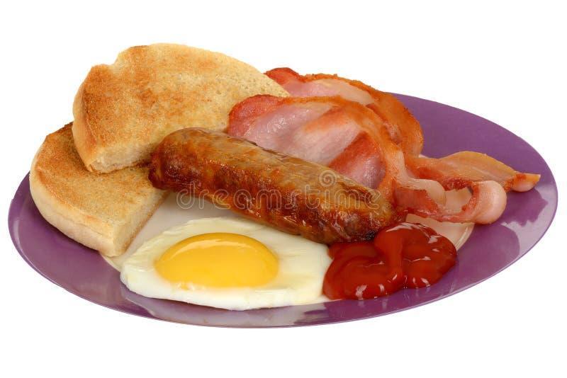 Bekonowy jajko i kiełbasa obraz royalty free