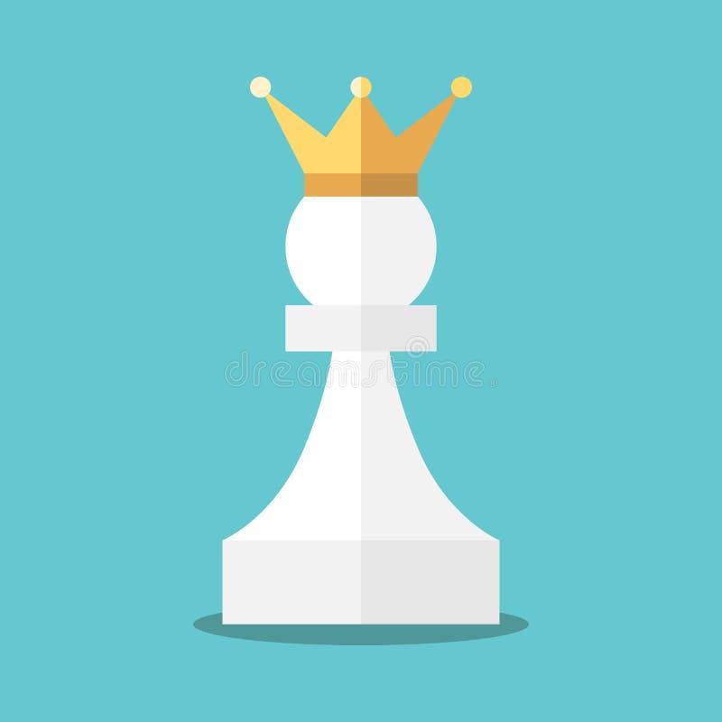 Bekroond wit pand royalty-vrije illustratie