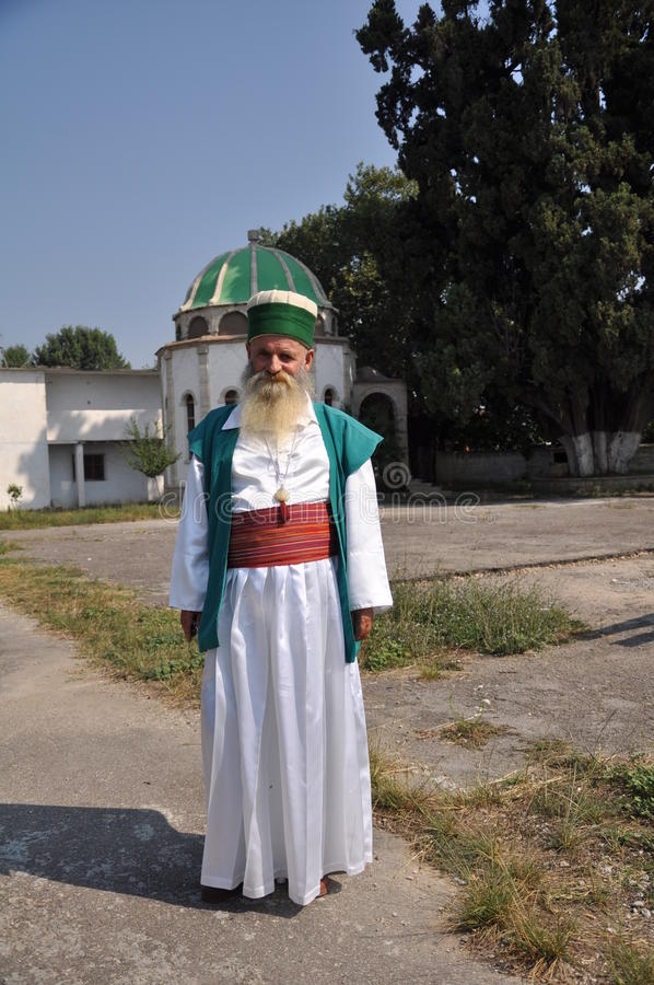 Bektashi dervish outside of tekke royalty free stock image