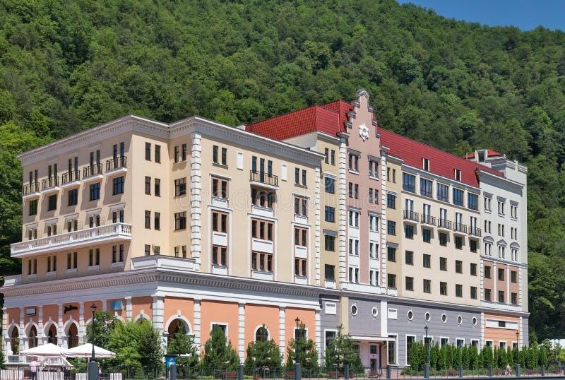 Bekvämt hotell i bergen arkivbilder