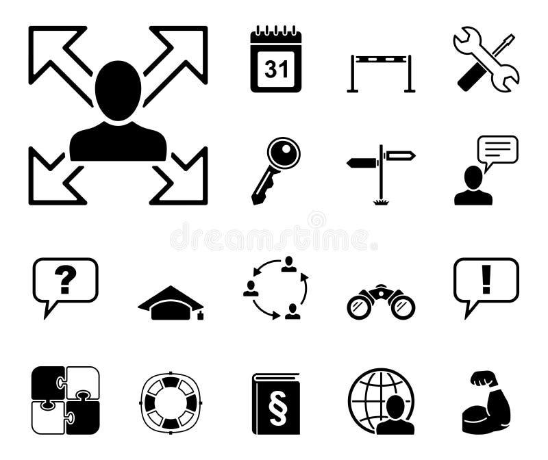 Bekwaamheid & Opleidings - Iconset - Pictogrammen stock illustratie