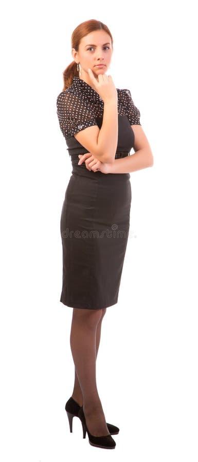 Bekymrad affärskvinna arkivfoto