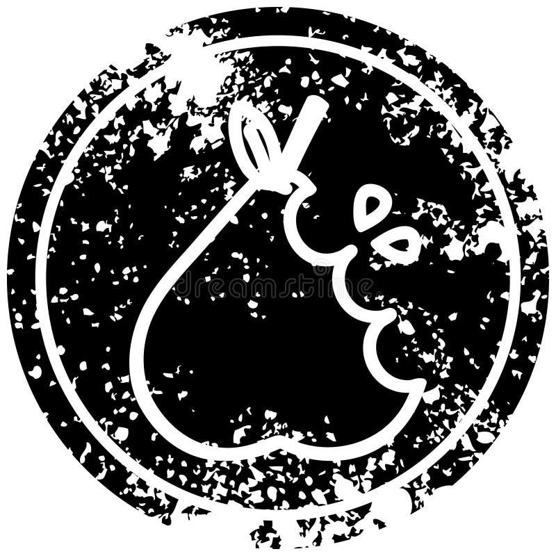 bekymrad symbol f?r saftigt p?ron vektor illustrationer