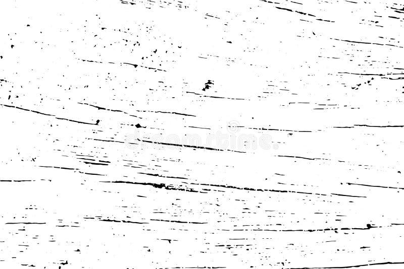 Bekymrad wood yttersidatextur Åldrig träyttersida Svart textur på den genomskinliga samkopieringen royaltyfri illustrationer