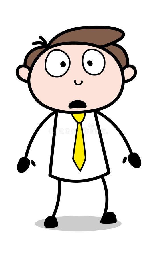 Bekymrat - kontorsaffärsmanEmployee Cartoon Vector illustration royaltyfri illustrationer