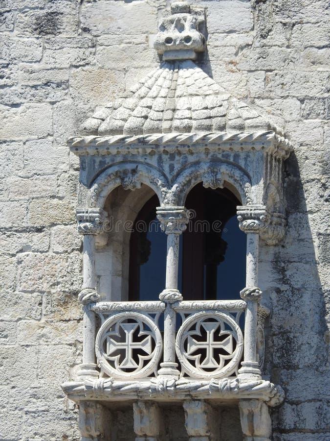Belém-Turmfenster lizenzfreies stockfoto