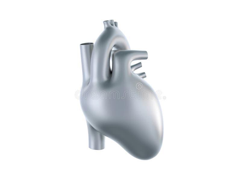 Belägga med metall hjärta vektor illustrationer