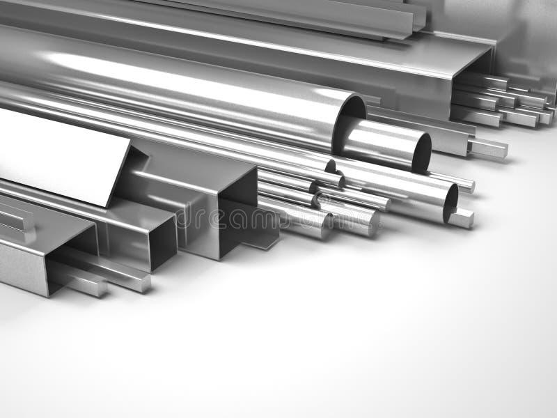 Belägga med metall rör vektor illustrationer