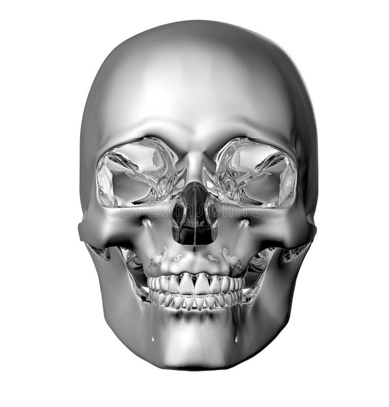 Belägga med metall scullen som isoleras på vit med den snabba banan vektor illustrationer