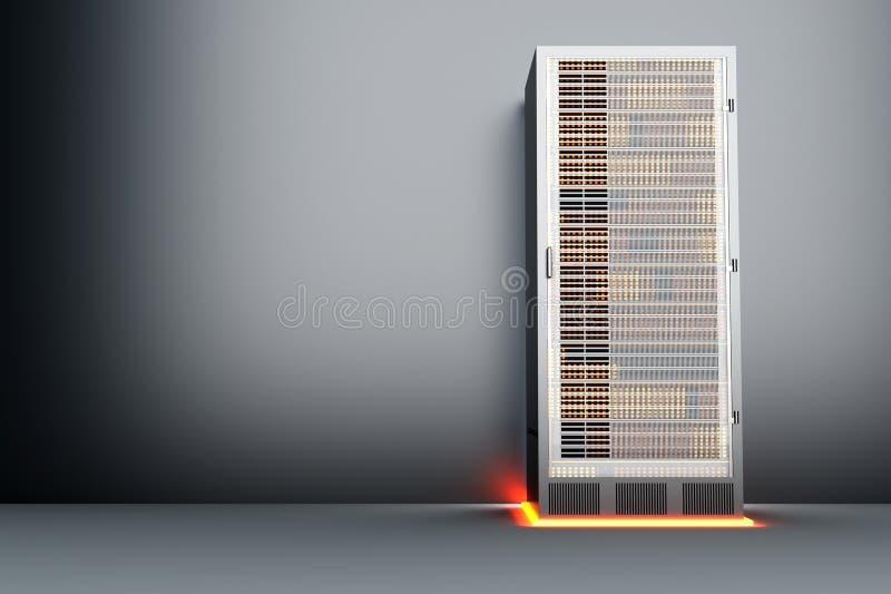 Belägga med metall serverrum royaltyfri illustrationer
