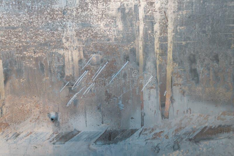 Belägga med metall textur, aluminium, silver skrapor på aluminiumtexturbakgrund arkivbilder