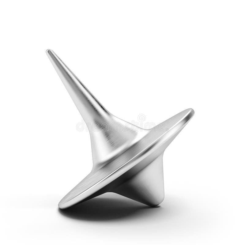Belägga med metall whirligigen stock illustrationer