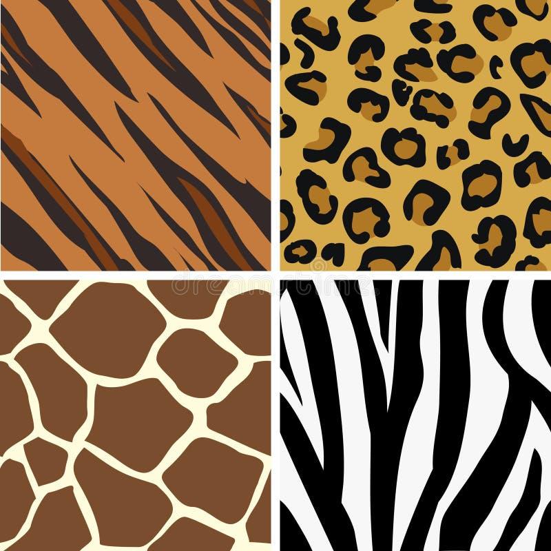 belägga med tegel för tryck för djur p seamless royaltyfri illustrationer