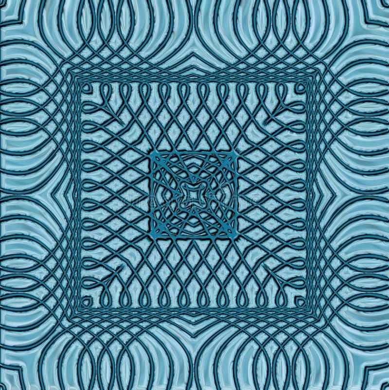 Belägger med tegel den geometriska modellen, sömlös bakgrund för idérika idéer stock illustrationer