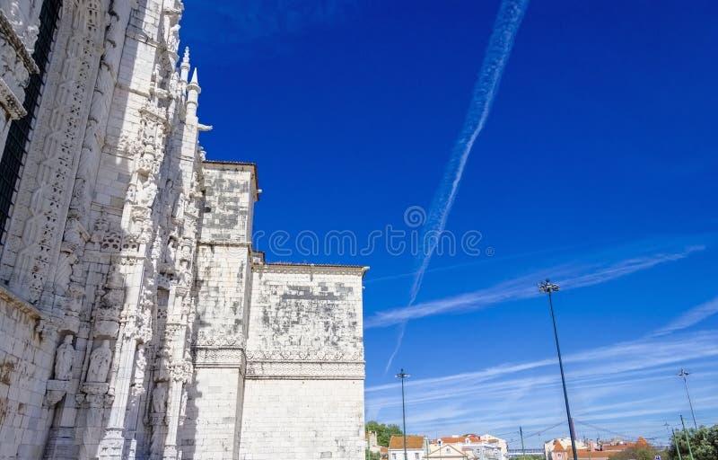 Belém, Lisboa, Portugal, o Jeronimos ou monastério de Hieronymites Classificado como o patrimônio mundial do UNESCO está como uma fotos de stock royalty free