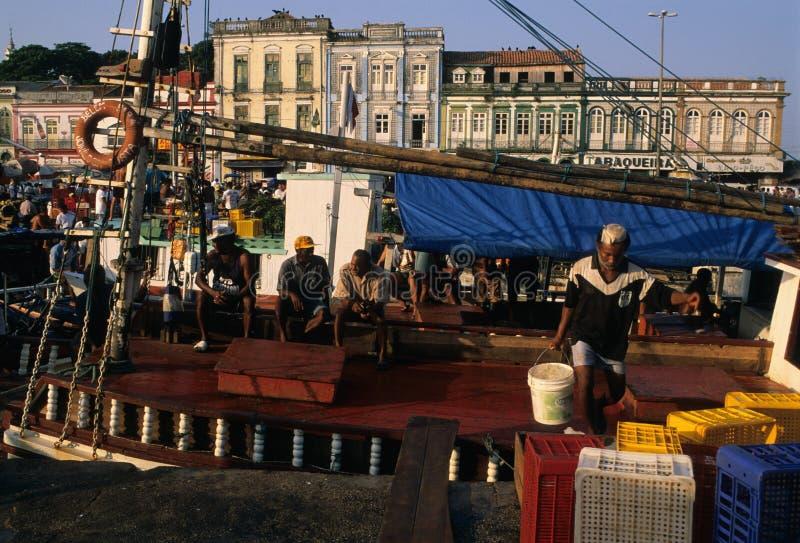 BELÉM - mercado do peso de Ver o. BRASIL foto de stock royalty free