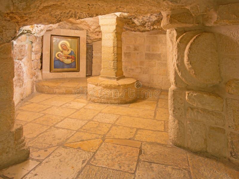 Belén - la cueva de la capilla de la gruta de la leche imágenes de archivo libres de regalías