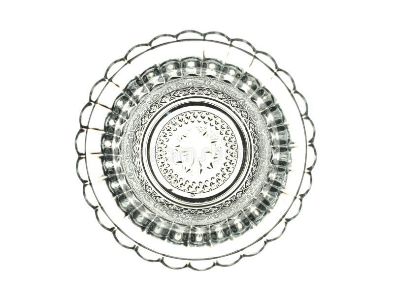 Bel élément décoratif en verre d'isolement sur un backgroun blanc photo stock