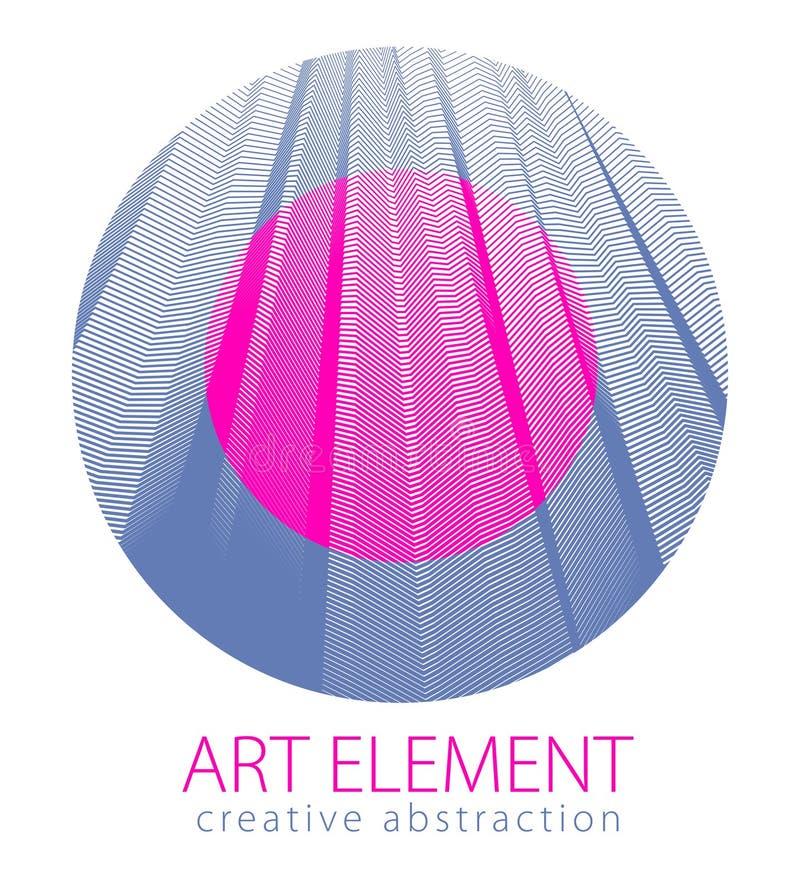 Bel élément d'art, texture linéaire de la surface ou textile dans a illustration libre de droits