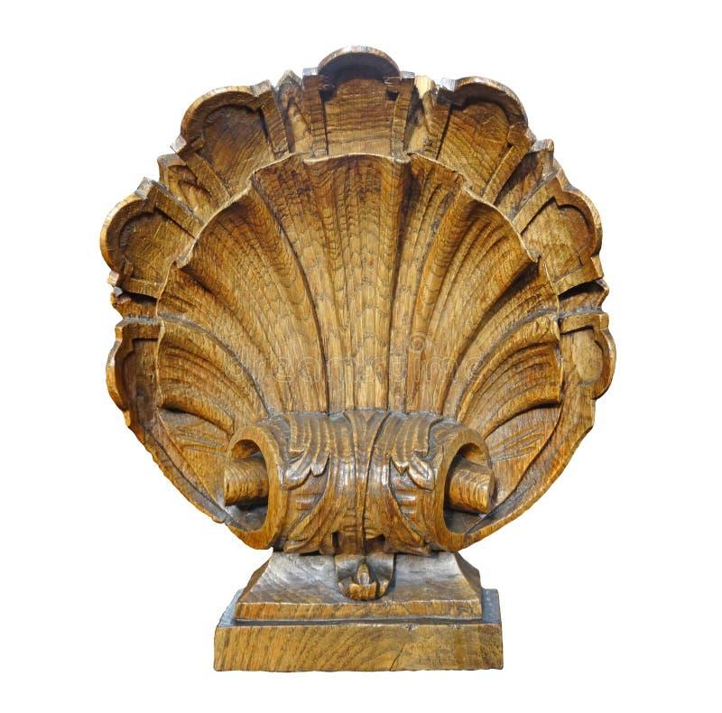 Bel élément intérieur en bois sous forme de coquille photographie stock