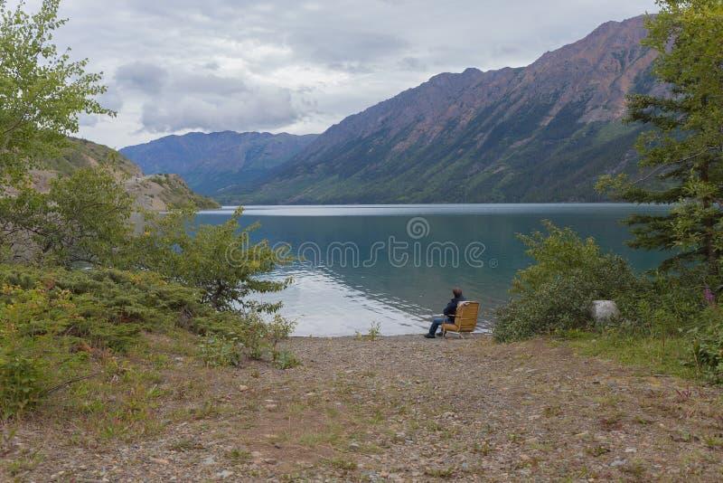 Bel été de Canada de paysage de montagne photos stock